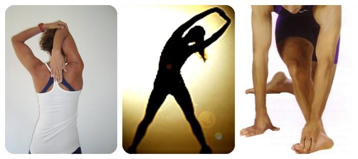 Ilustración con tres formas de estirar