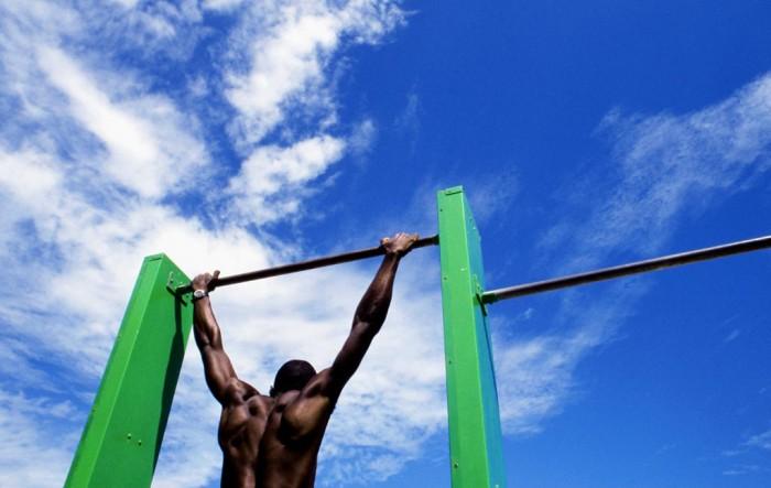 Imagen de un entrenamiento al aire libre