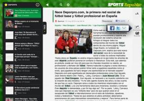 Como podrás ver las noticias en Sport Republic