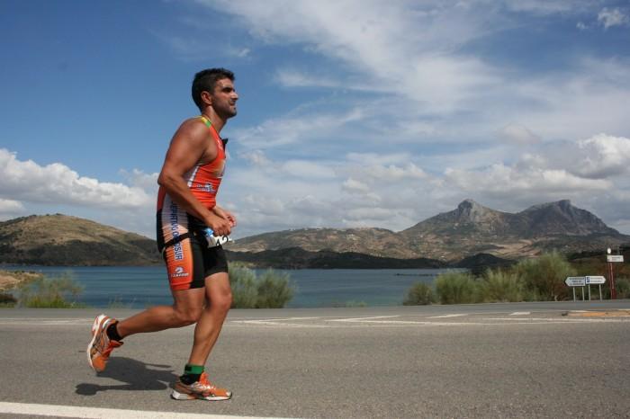 Triatlón en carrera