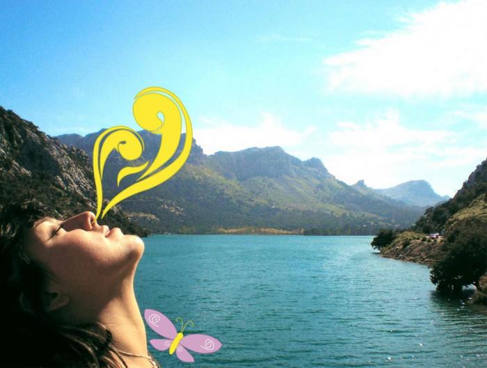 Respirar aire fresco