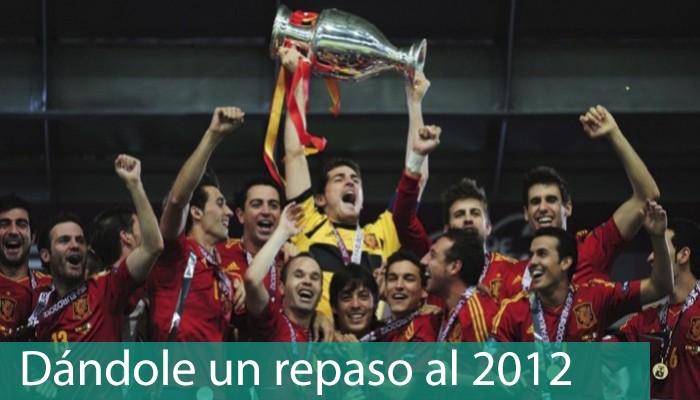 Selección española conquistando Eurocopa 2012