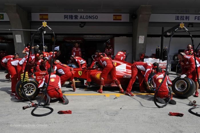 Ferrari en el Gran Premio de Shangai