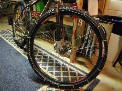 Las cadenas para las ruedas de las bicicletas como artículo de seguridad.