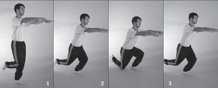 Haciendo equilibrios a una pierna