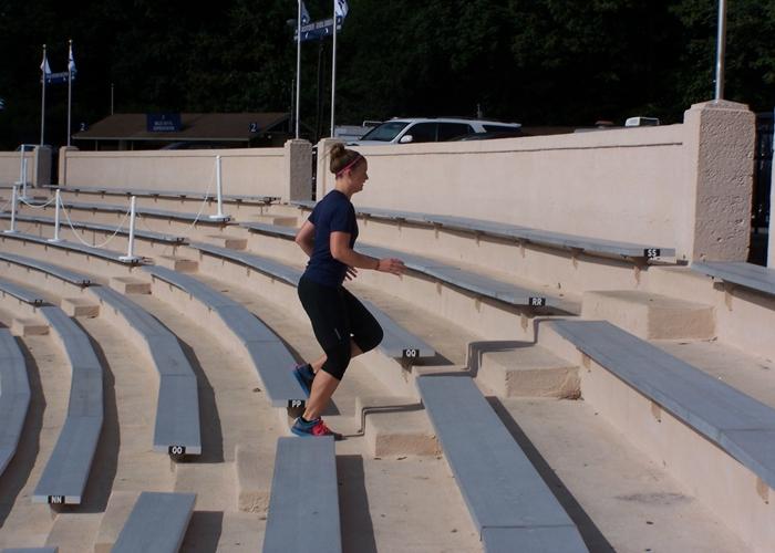 Entrenamiento subiendo escaleras