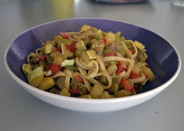 Tallarines con soja