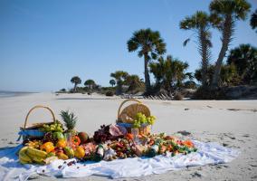 Comida en la playa
