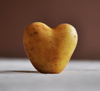 Patata con forma de corazón