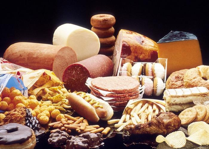 Alimentos con grasas saturadas