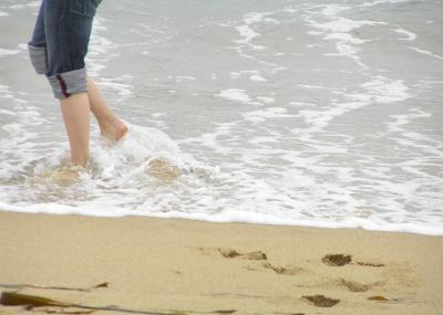 Andar playa circulación
