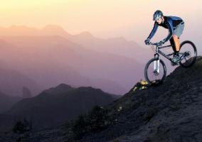 Ciclista montaña