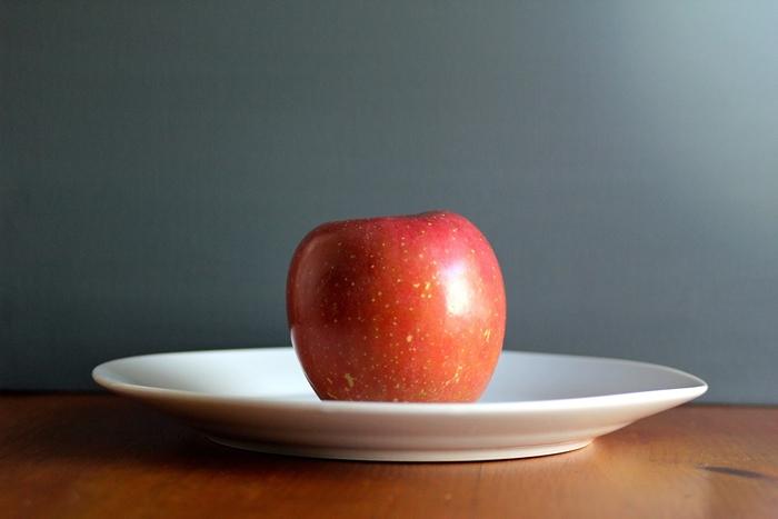 Porción de manzana