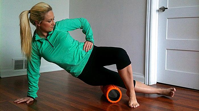 Masaje con tubo de gomaespuma
