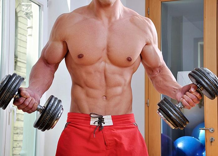 Chico joven musculoso