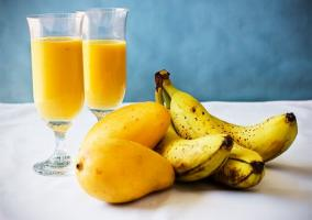 Batido de plátano y mango