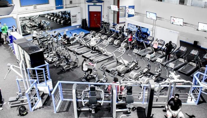 Zona de cardio de un gimnasio