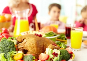 Comida saludable en Navidad