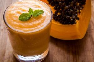 Smoothie papaya linaza