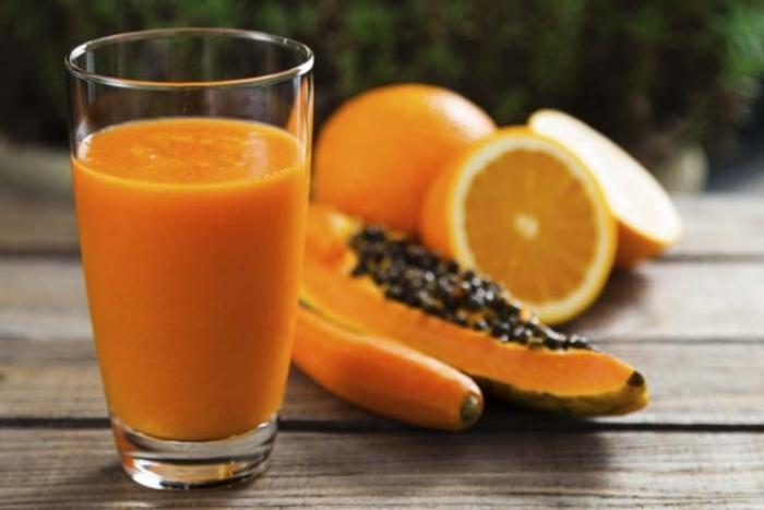 Zumo naranja papaya