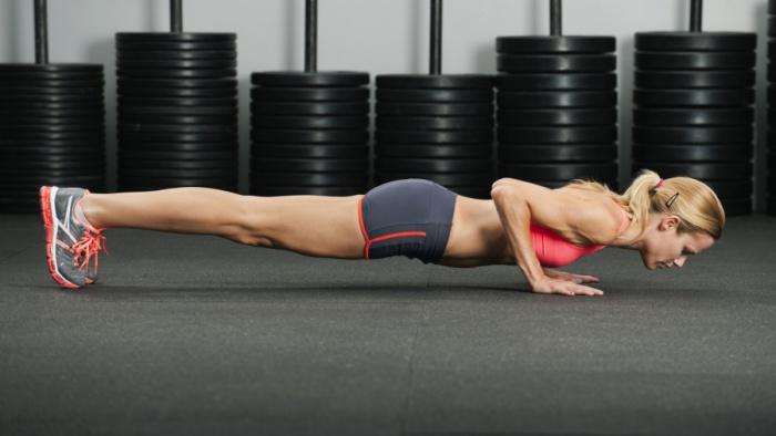 Flexiones brazos con plancha