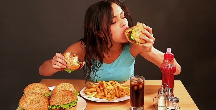 Comiendo rápido