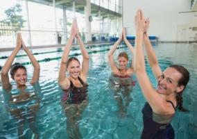 Yoga en agua