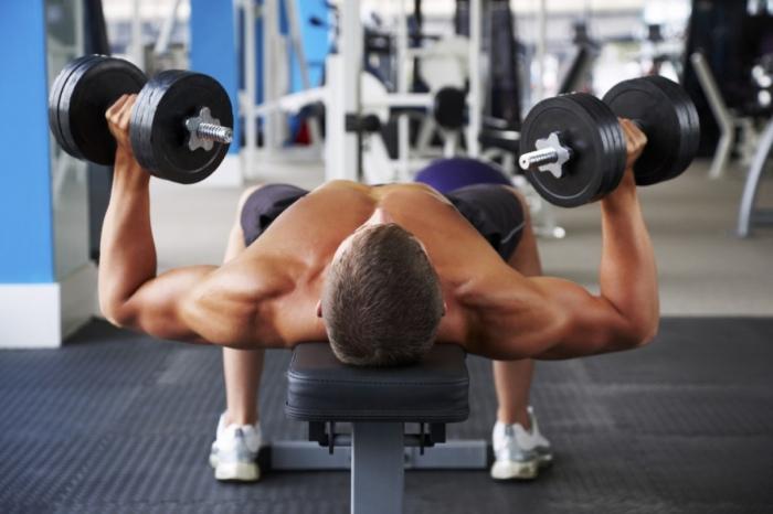 Hombre pesas