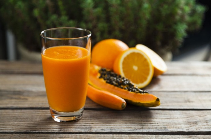 Batido naranja papaya