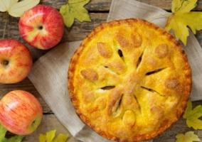 Pie manzana bajo calorías