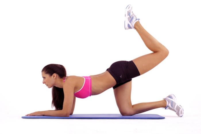 extension cadera rodilla doblada