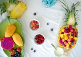 Ensaladas frutas baja peso