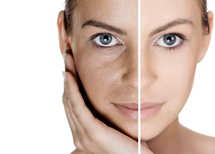 Mujer con piel suave
