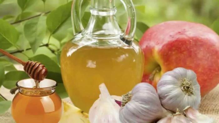 vinagre de manzana con ajo