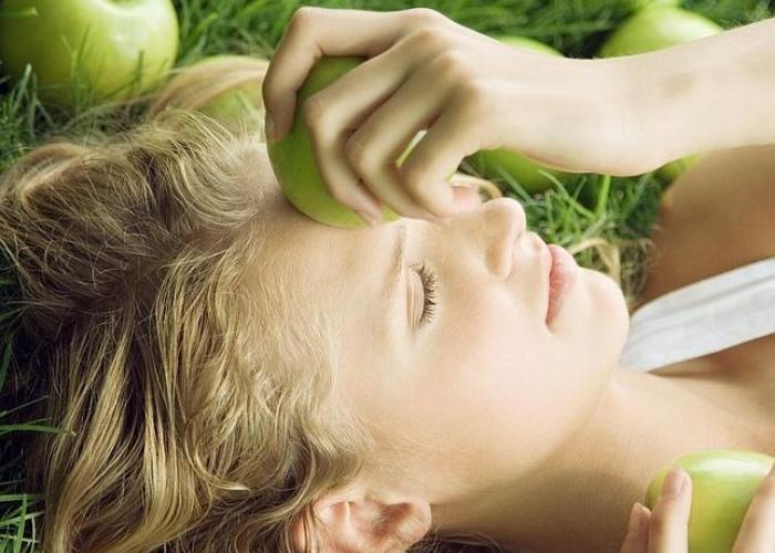 Frutas caída cabello