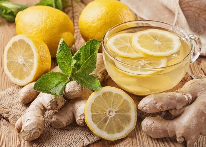 Infusión de jengibre con limón