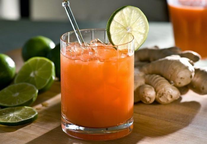 Bebida jengibre zanahoria