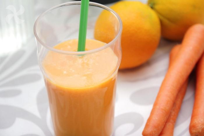 Bebida melón zanahoria