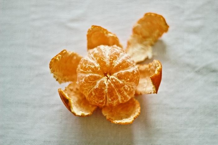 Cáscaras de mandarina
