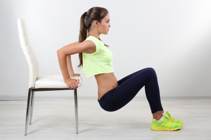 Flexión silla