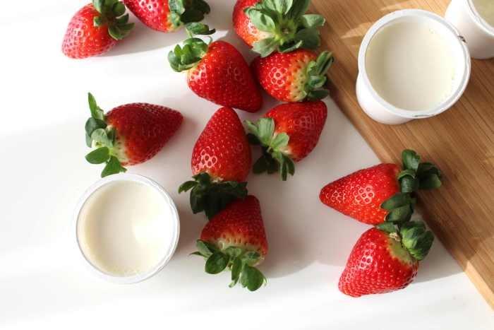 Fresas yogur