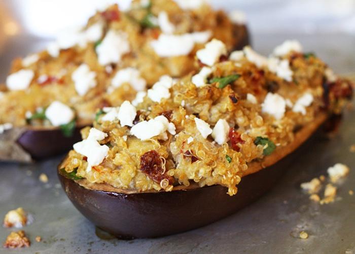 Berenjenas quinoa
