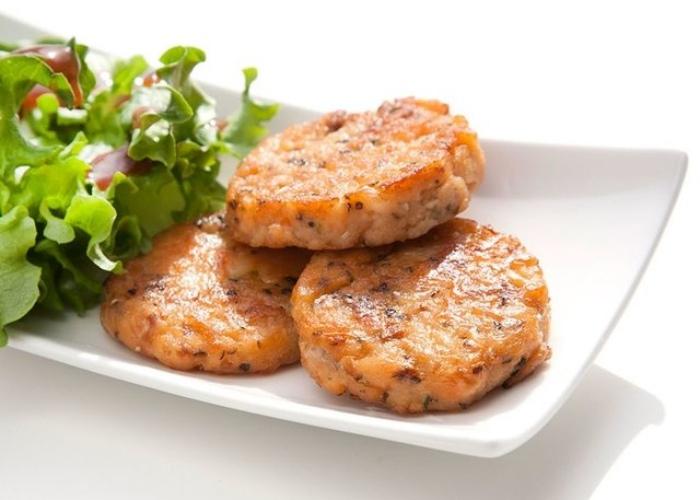 Hamburguesa salmón