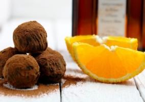 Trufas chocolate naranja