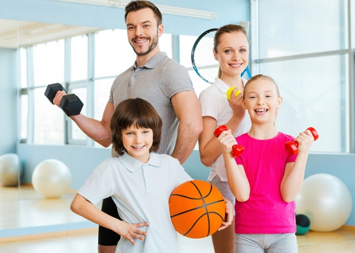 Resultado de imagen para ejercicio en familia