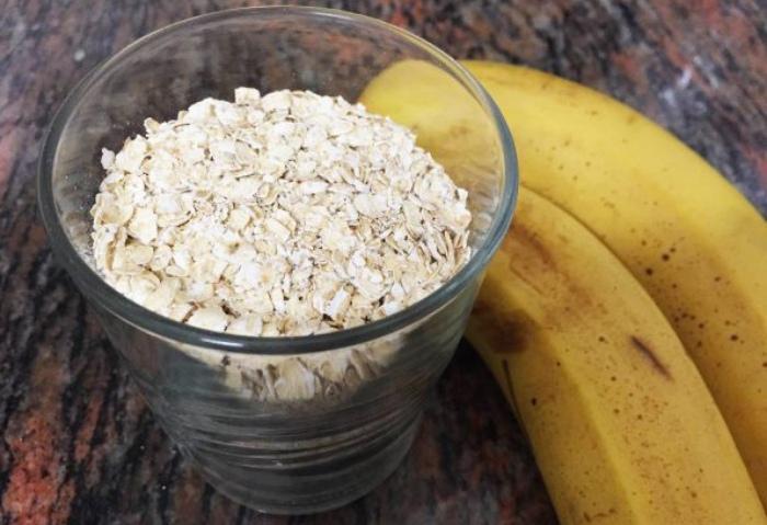 Plátano y avena