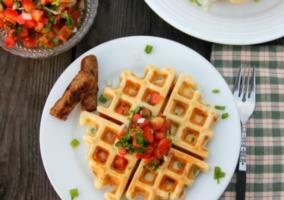 Waffles tomate