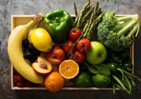 Caja frutas y vegetales