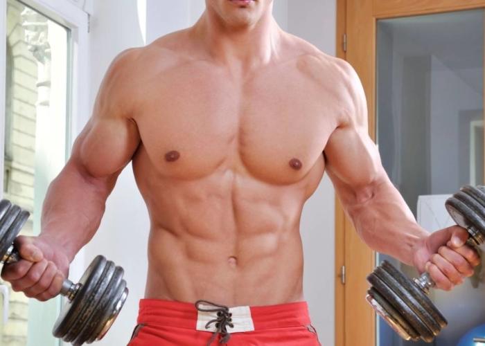 como aumentar masa muscular en brazos en casa