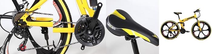 bicicleta amarilla barata